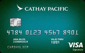 cathay pacific visa signature card