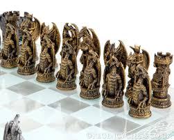 fantasy chess set kingdom of the dragon glass chess set nem5404 57 34 the