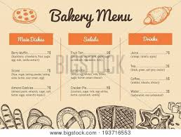 bakery hand drawn restaurant menu vector u0026 photo bigstock