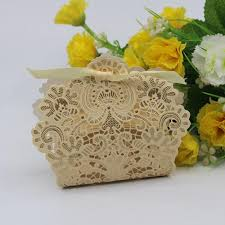 cheapest place to buy wrapping paper 20 x wedding candy box change gold white blue laser cut