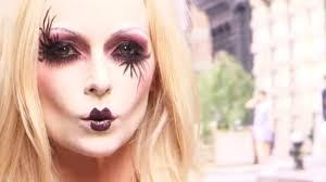 halloween make up tutorial doll look avante garde youtube