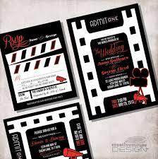wedding invitation movie ticket file only
