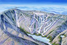 Map West Virginia by Snowshoe West Virginia James Niehues Map Artist Ski Maps
