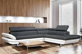 canapé 2 places design pas cher canape noir et blanc design canape noir et meuble blanc canape