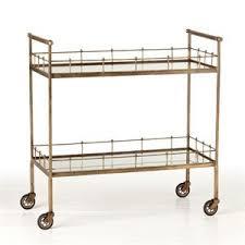 arteriors home 6525 lisbon vintage bar cart wine rack dimare design