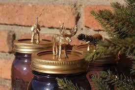 ball mason jar with golden animal lid home decor unique
