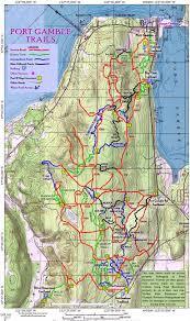 Seattle Bike Trail Map by Port Gamble Stottlemeyer Trails