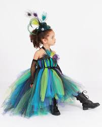 Girls Toddler Halloween Costumes Tutu Dress Punk Rock Peacock Halloween Costume 7 8 Youth