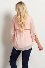 white flowy blouse light pink flowy chiffon maternity blouse