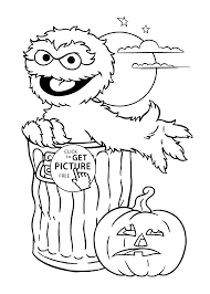 halloween coloring page for kids printable free happy halloween