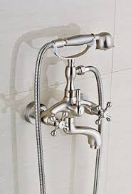 Tub Faucet With Handheld Shower Votamuta Brushed Nickel Bathroom Wall Mounted Mixer Tub Filler