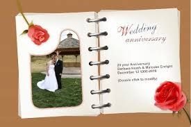 free photo templates wedding anniversary cards