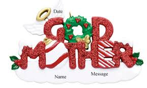 buy godmother glitter word ornament personalized