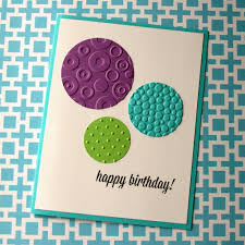 create a birthday card embossed birthday card think crafts by createforless
