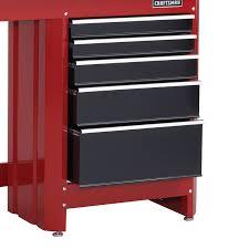 workbenches garage workbenches sears craftsman 5 drawer workbench module red black