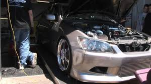 lexus is 300 turbo lexus is300 dyno pull 2jz big turbo youtube