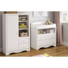 South Shore Changing Table South Shore Heavenly Changing Table And Armoire With Drawers