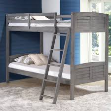 donco louver twin over twin bunk bed antique grey hayneedle