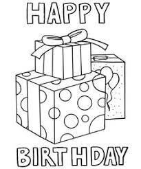 happy birthday coloring card happy birthday coloring pages for funycoloring