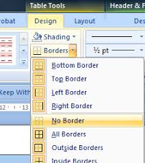 table tools design tab word custom headers and footers the easy way cybertext newsletter