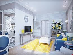 Wohnzimmer Ideen Gelb Wohnzimmer Gelb Blau Und Weiß Ideen Wohnung Ideen