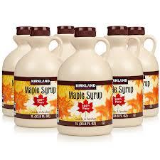 kirkland signature 100 pure grade a dark amber maple syrup 6 x