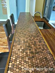 Homemade Bar Top Epoxy Penny Bar Great Idea And It Looks Like Fairly Easy Project