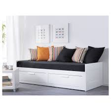 brimnes day bed frame with 2 drawers white 80x200 cm ikea