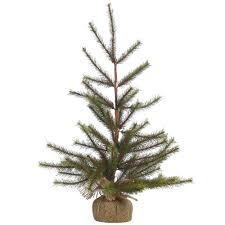 medium burlap base faux pine christmas tree temple u0026 webster