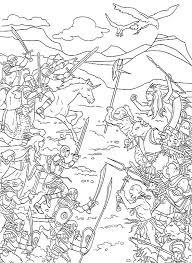 colorier un dessin du monde de narnia