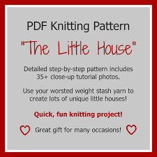 Wedding Gift Knitting Patterns Knitting Pattern Little House New Home First Home Wedding