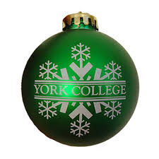 mcm york college green ornament york college bookstore