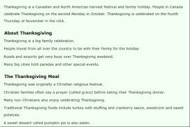 unir ict teaching to my esl thanksgiving story