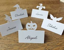 personalised bat place cards personalized place cards