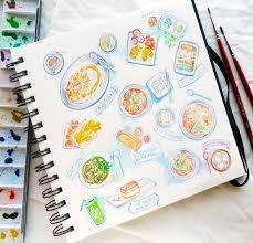 thailand travel sketch diary inktober 2017 u0026 printable stickers