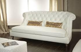 Aico Bed Aico Mia Bella Damario White Gold Leather Tufted Loveseat Mb