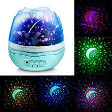 Star Light Projector Bedroom - welltop multicolor moon star projector night light rotating starry