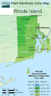 Weather Zones For Gardening - map of usda rhode island hardiness planting zone areas