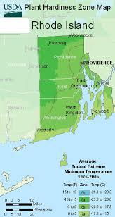map rhode island map of usda rhode island hardiness planting zone areas