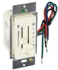Bathroom Heater Fan Light Hunter 27183 4 Speed Ceiling Fan U0026 Light Slide Control Switch Ebay