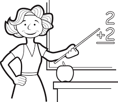 teacher coloring pages clip art image of books with an