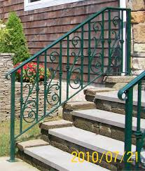 outdoors wrought iron handrails for outside steps gallery