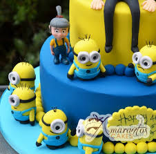 Minion Cake Decorations Two Tier Despicable Me Cake Ac69 Amarantos Cakes