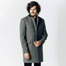 mens long wool coat in grey 250 dstld
