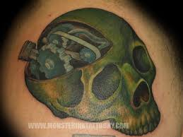 gearhead skull tattoo tattoos