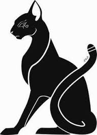 black cat clipart egyptian cat pencil and in color black cat