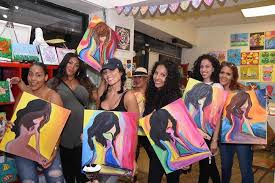 party for adults sip and paint for adults in ny studio