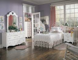 bedroom teal pink grey bedroom stained wood open shelves photo