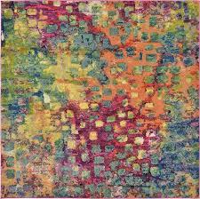 multi 6 u0027 x 6 u0027 barcelona square rug area rugs irugs uk