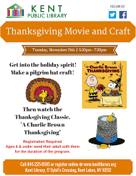 charlie brown thanksgiving online upcoming events at kent library